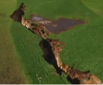 Mammoth sinkhole opens up New Zealand farm