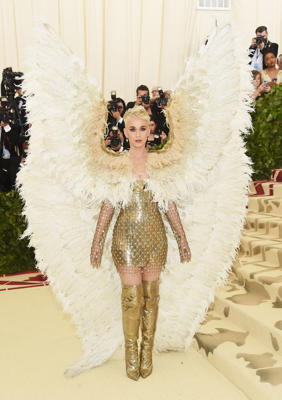 Katy Perry attends The Metropolitan Museum of Art's Costume Institute Benefit celebrating the opening of Heavenly Bodies: Fashion and the Catholic Imagination in New York City on May 7, 2018.