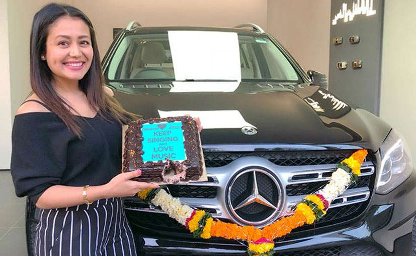 Slide 33 of 35: Neha Kakkar recently purchased the Mercedes-Benz GLS 350. The car is priced over ₹80 lakh and looks stunning.