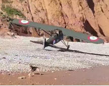 Watch: Pilot does emergency landing on Devon beach