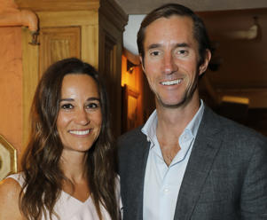 LONDON, ENGLAND - JUNE 27: Pippa Middleton (L) and James Matthews attend The Miles Frost Fund party at Bunga Bunga Covent Garden on June 27, 2017 in London, England. (Photo by David M Benett/Dave Benett/Getty Images)