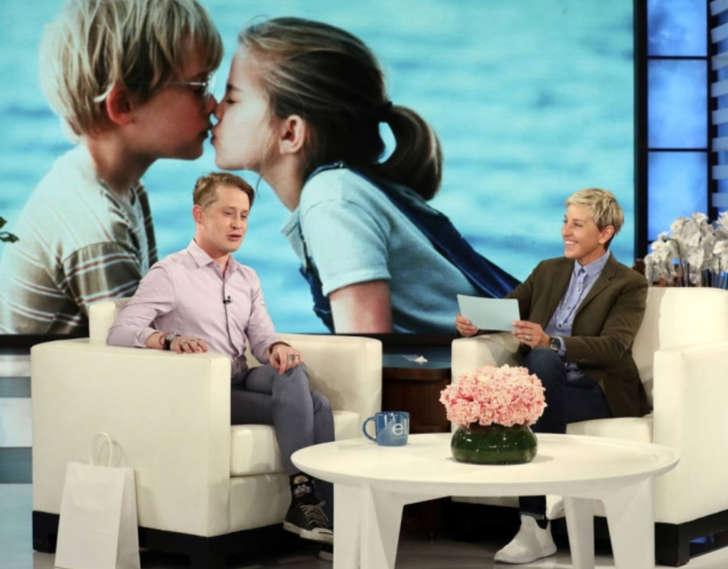O ator Macaulay Culkin durante as gravações do programa de Ellen DeGeneres que vai ao ar nesta segunda-feira, 23