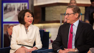 Connie Chung wearing a suit and tie: Maury Povich and Connie Chung on their TV careers, long marriage