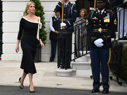 Slide 3 of 99: CAPTION: Senior Advisor to the President Ivanka Trump  arrives for