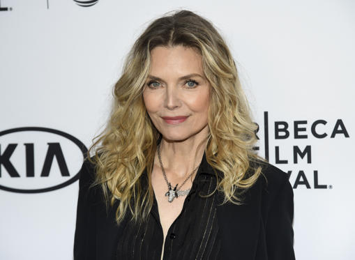 "Slide 1 of 43: Michelle Pfeiffer attends a 35th anniversary screening ""Scarface"" at the Beacon Theatre on Thursday, April 19, 2018, in New York. (Photo by Evan Agostini/Invision/AP)"