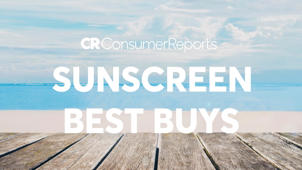 a close up of a sign: 2018 Best Bang for your Buck Sunscreens