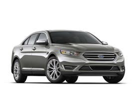 a close up of a car with Holden Arboretum in the background: 2016 Ford Taurus