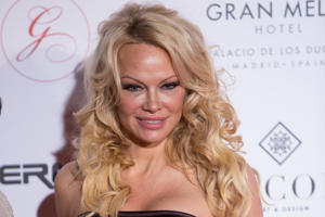 Actress Pamela Anderson attends the III Global Gift Gala at Thyssen-Bornemisza museum in Madrid, Spain.