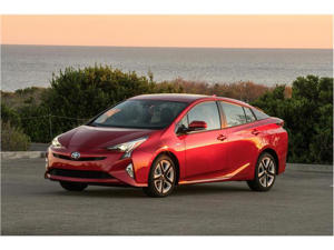 a red car: 2018 Toyota Prius