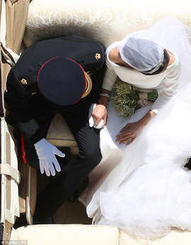 This is the photo that some are calling the best from the royal wedding. Twitter users pointed out that the newlyweds formed a heart shape in their carriage