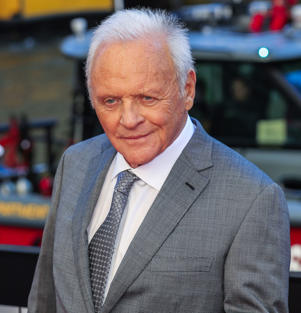 "Anthony Hopkins wearing a suit and tie: Anthony Hopkins attends the premiere of ""Transformers: The Last Knight"" in Chicago on June 20, 2017."