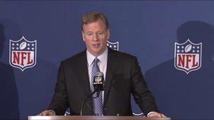 Roger Goodell wearing a suit and tie: Roger Goodell's full press conference on new national anthem policy