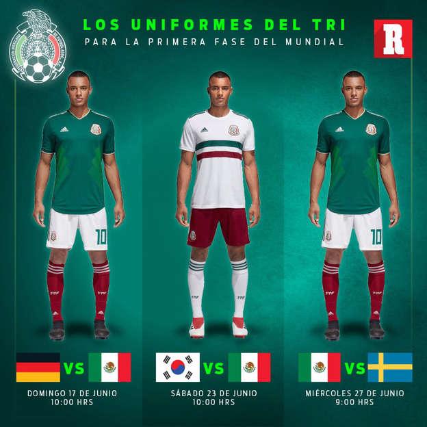 0665ad9ded53c Así vestirá la Selección Mexicana en el Mundial de Rusia 2018