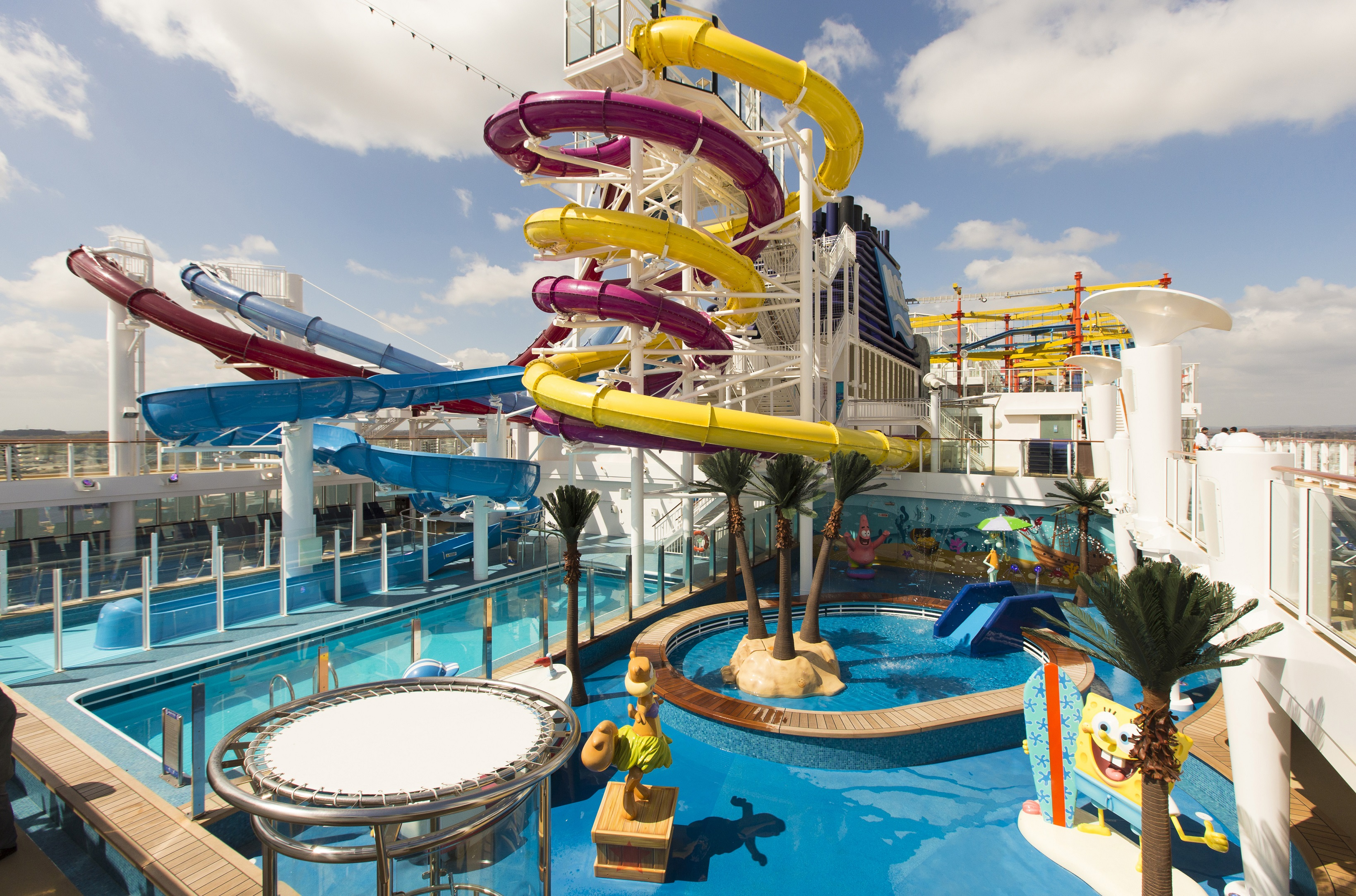 Slide 13 of 31: General views of the Aqua Park on board Norwegian Cruise Line's new ship, the 146,600 tonne Norwegian Breakaway. The ship joins as the 12th vessel in the Norwegian fleet, with New York as her year-round home port.