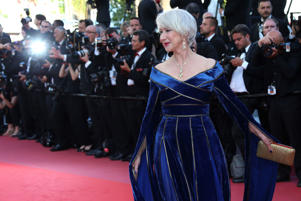 Actress Helen Mirren poses for photographers upon arrival at the premiere of the film 'Girls of The Sun' at the 71st international film festival, Cannes, southern France, Saturday, May 12, 2018. (Photo by Joel C Ryan/Invision/AP)
