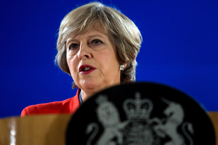 File: British Prime Minister Theresa May
