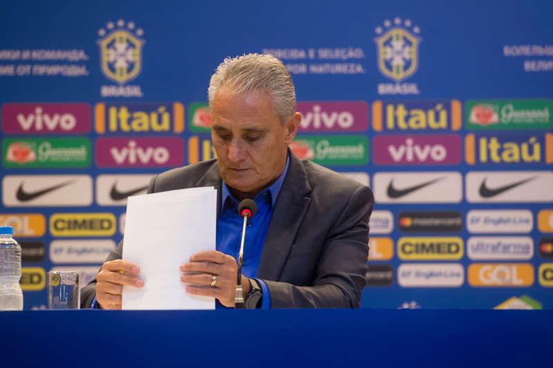 Tite durante a convocação da seleção brasileira