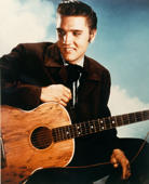 Elvis Presley on the set of 'Love Me Tender'