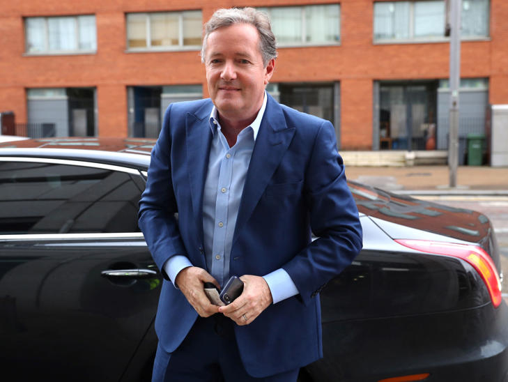 Broadcaster Piers Morgan arrives at the BBC to appear on The Andrew Marr Show in London, Britain, January 28, 2018. REUTERS/Hannah McKay