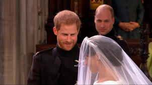 Prince Harry smiling for the camera: Prince Harry: 'You look amazing' and 'I'm so lucky'