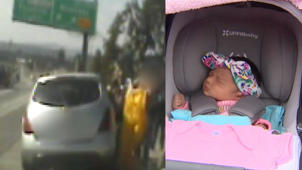 Mom Gives Birth on Los Angeles Highway With Help from CHP Officers