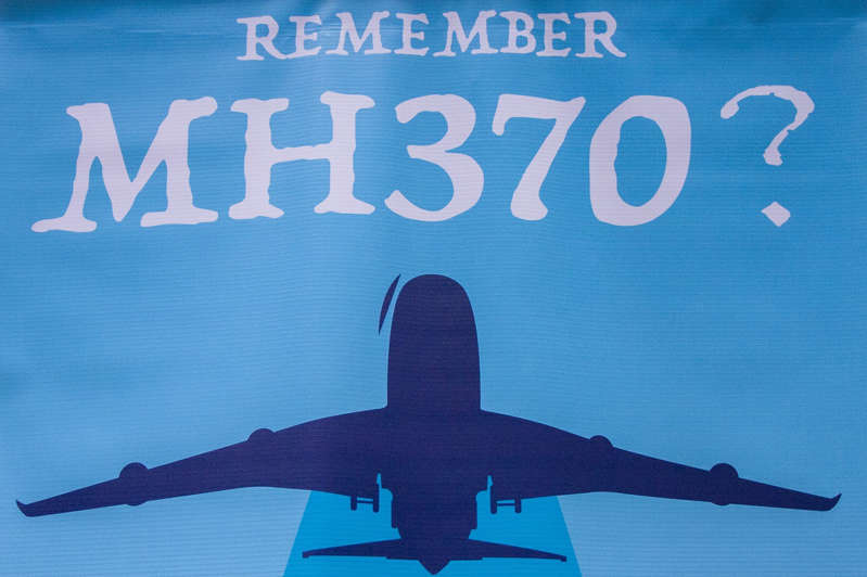 A MH370 poster seen at the 4th Annual MH370 Remembrance event.