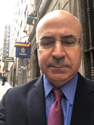 Mr Browder posted a picture of himself outside a Spanish police station, and accused Russia of 'abusing' Interpol
