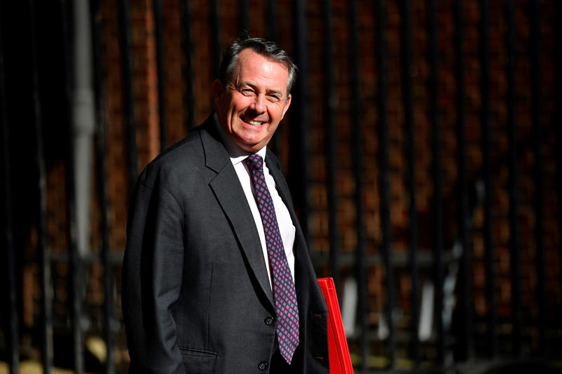 Britain's International Trade Secretary Liam Fox arrives at 10 Downing Street in central London on May 22, 2018 for a meeting of the cabinet. (Photo by Ben STANSALL / AFP)        (Photo credit should read BEN STANSALL/AFP/Getty Images)