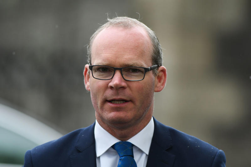Simon Coveney, Tanaiste (Irish Deputy Prime Minister) and Minister for Foreign Affairs and Trade, arrives for the Arbour Hill 1916 Leaders Commemoration ceremony at Church of the Most Sacred. On Wednesday, May 9, 2018, in Dublin, Ireland. (Photo by Artur Widak/NurPhoto via Getty Images)