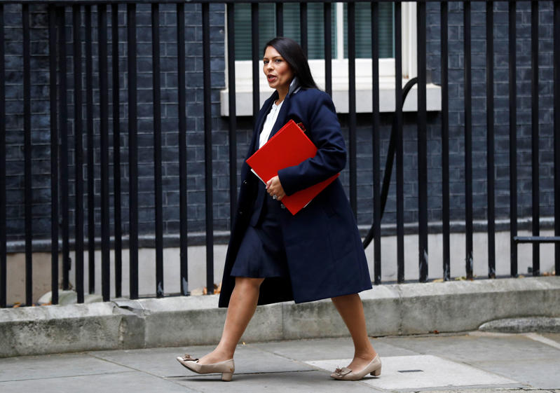 Priti Patel, Britain's Secretary of State for International Development arrives in Downing Street, in London, October 31, 2017. REUTERS/Peter Nicholls