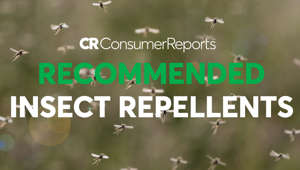 a close up of text on a black background: 2018 Best Insect Repellents