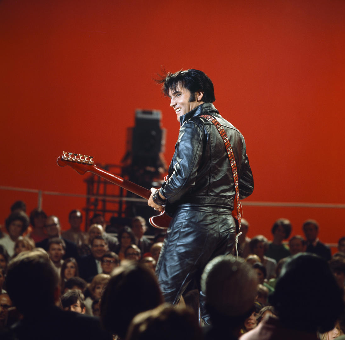 Slide 16 of 45: ELVIS: '68 COMEBACK SPECIAL -- Pictured: Elvis Presley during his '68 Comeback Special on NBC --