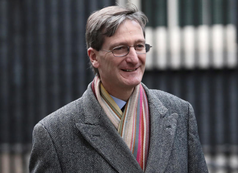Britain's former Attorney General Dominic Grieve walks in Downing Street, London. REUTERS/Simon dawson