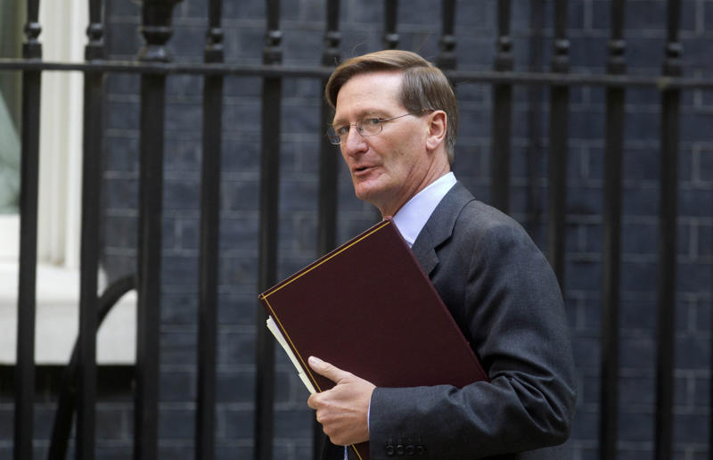 Attorney General Dominic Grieve QC arrives at 10 Downing Street, central London.   (Photo by Lewis Whyld/PA Images via Getty Images)