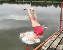 Epic backflip dive gone wrong