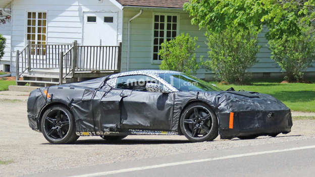 Mid Engined Corvette Spied Chirping Its Tires In Acceleration Tests
