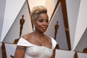 Mary J. Blige arrives at the Oscars on Sunday, March 4, 2018, at the Dolby Theatre in Los Angeles. (Photo by Jordan Strauss/Invision/AP)