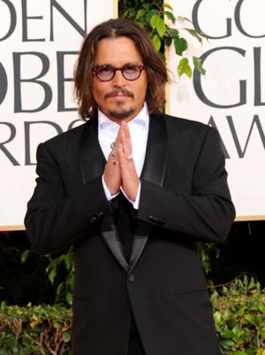 Pictured: Johnny Depp arrives at the 68th Annual Golden Globe Awards held at the Beverly Hilton Hotel on January 16, 2011