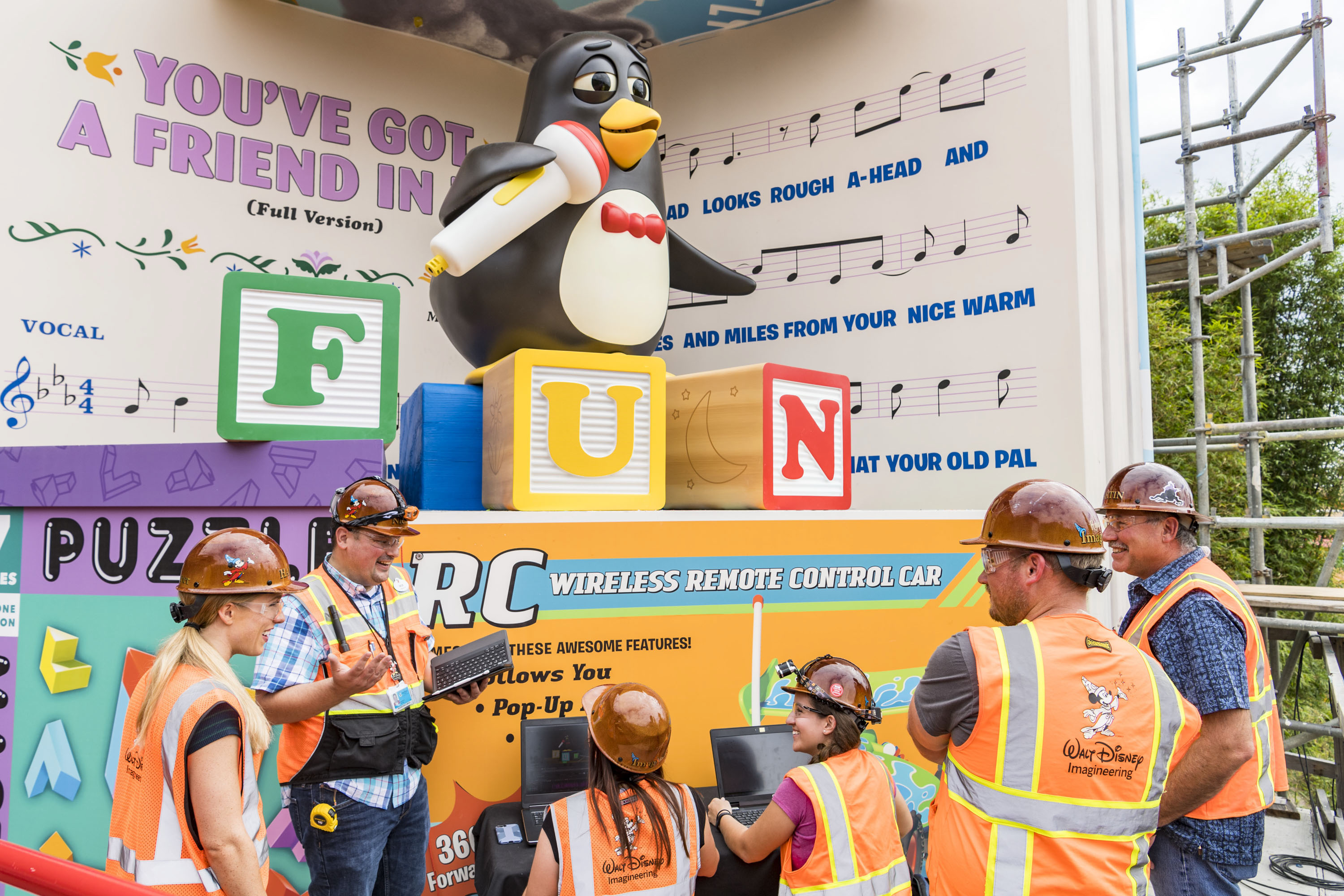 """Slide 6 of 15: Wheezy, the squeaky toy penguin from the Disney¥Pixar """"Toy Story"""" films, will delight guests riding Slinky Dog Dash, the family-friendly coaster that will be part of the new Toy Story Land opening June 30, 2018, at Disney's Hollywood Studios. The all-new Audio-Animatronic figure will serenade guests with """"YouÕve Got a Friend in Me,"""" the popular song from the films.  The new 11-acre Toy Story Land will make Walt Disney World guests feel like they have shrunk to the size of a toy in the setting of Andy's backyard where they can also take a spin aboard Alien Swirling Saucers and score high on the midway at Toy Story Mania! (Matt Stroshane, photographer)"""