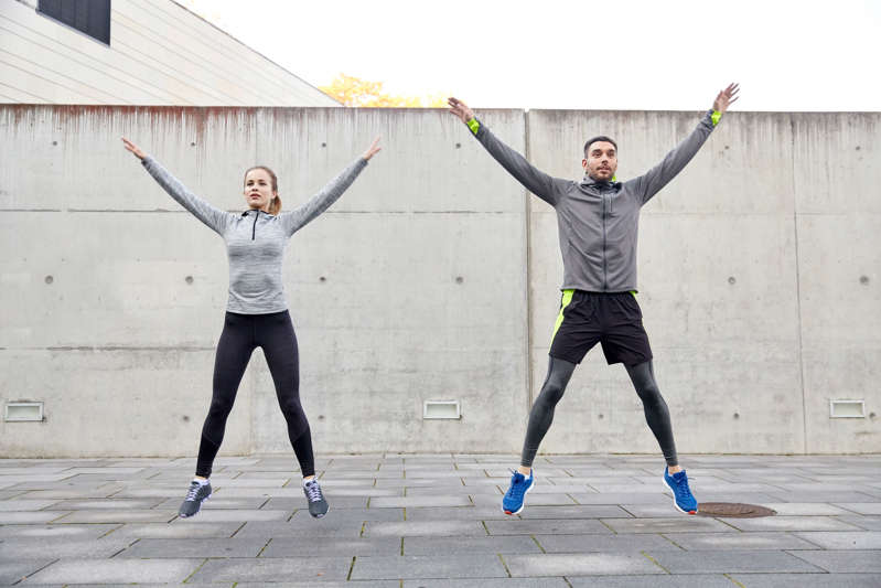 Jumping jack is a great form of cardio exercise