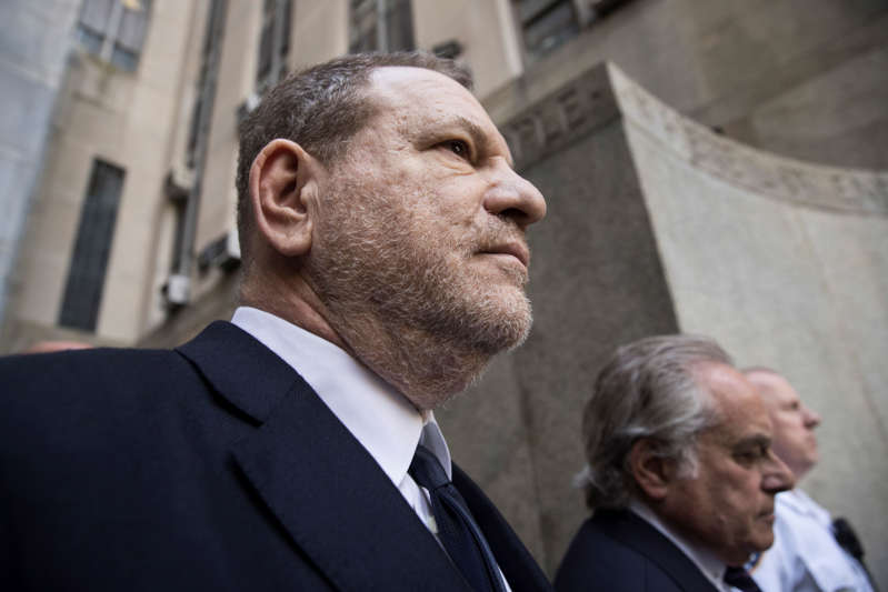 NEW YORK, NY - JUNE 5: Harvey Weinstein and attorney Benjamin Brafman exit  State Supreme Court, June 5, 2018 in New York City. Weinstein pleaded not guilty on two counts of rape and one count of a criminal sexual act. (Photo by Drew Angerer/Getty Images)