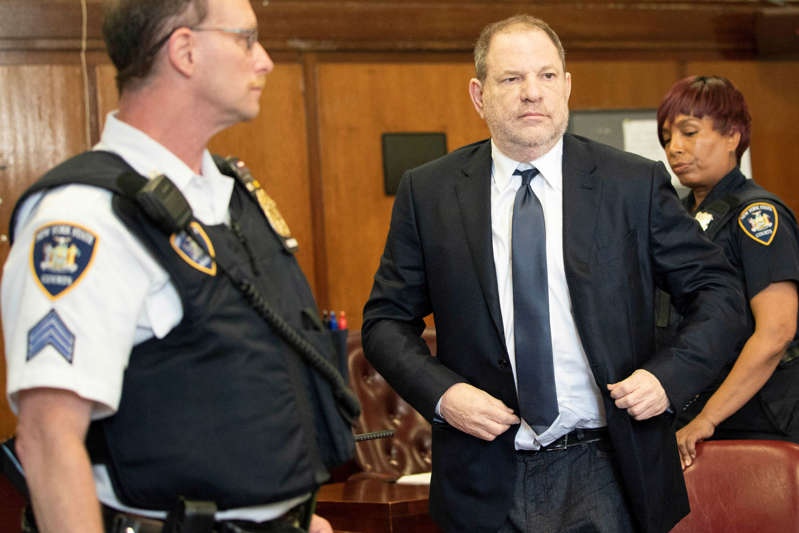 Film producer Harvey Weinstein stands inside Manhattan Criminal Court during his indictment in Manhattan in New York, U.S., June 5, 2018. Steven Hirsch/Pool via REUTERS
