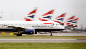British Airways planes on the tarmac at Heathrow Airport.   (Photo by Steve Parsons/PA Images via Getty Images)