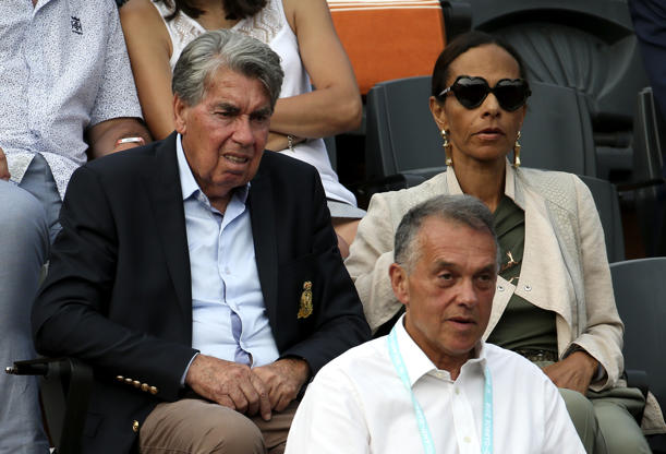 Slide 45 of 75: Manolo Santana and his wife Claudia Rodriguez during Day 9 of the 2018 French Open at Roland Garros stadium on June 4, 2018 in Paris, France. (Photo by Jean Catuffe/Getty Images)