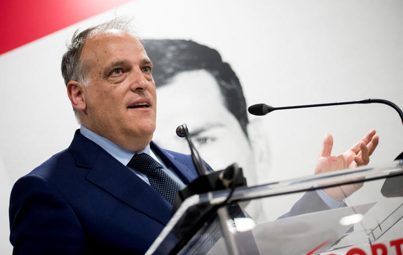File: Javier Tebas attends the presentation of Iker Casillas as Sportium Ambassador for FIFA World Cup 2018 on May 30, 2018 in Madrid, Spain.  (Photo by Samuel de Roman/WireImage)