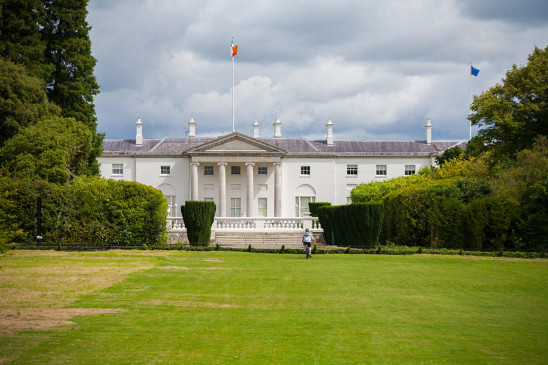 Áras an Uachtaráin, the official residence and principal workplace of the President of Ireland in the Phoenix Park, Dublin, Ireland