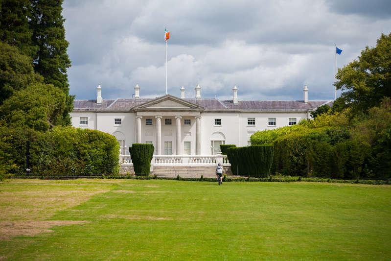 Áras an Uachtaráin, the official residence and principal workplace of the President of Ireland in the Phoenix Park, Dublin, Ireland