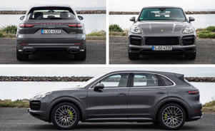a car parked on the side of a road: We've Got Porsche PHEV-er: New Cayenne E-Hybrid Driven