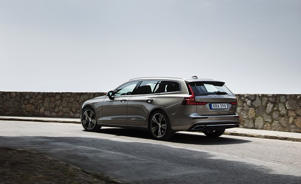 a car parked on the side of a road: 2019 Volvo V60 Driven: Estate Planning