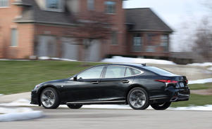 a car parked on the side of a road: Lexus LS500 F Sport AWD Tested: Moderately Assertive
